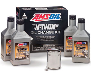AMSOIL VTWIN Oil Change KIT 20W50 Full Synthetic Motorcycle Oil 4QTS + Filter Review