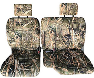 Durafit Seat Covers,T772-Bull Rush Camo, Front 60/40 Split Bench Seat Integrated Armrest Seat Cover Review