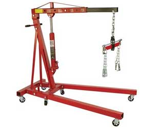 Strongway Hydraulic Engine Hoist with Load Leveler 2-Ton Capacity Review