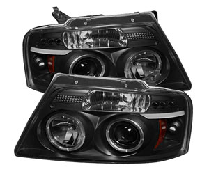 Spyder Auto Ford F150 Version 2 Black Halogen LED Projector Headlight Review